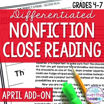 Close Reading  - April Lower Level ADD-ON