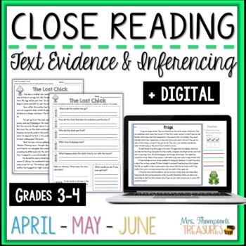 Close Reading - April, May, June