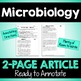 """Close Reading Article: """"Father of Microbiology"""""""