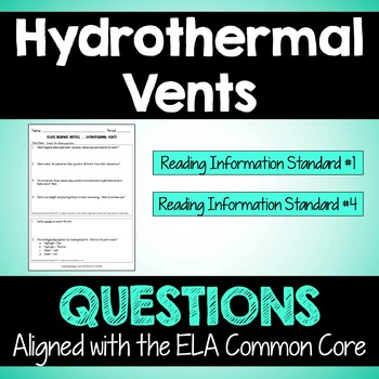 """Close Reading Article: """"Hydrothermal Vents"""""""