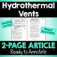 "Close Reading Article: ""Hydrothermal Vents"""