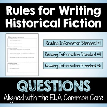 """Close Reading Article: """"Rules for Writing Historical Fiction"""""""