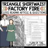"Close Reading Article: ""Triangle Shirtwaist Factory Fire"""