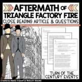 "Close Reading Article: ""Triangle Shirtwaist Factory Fire Aftermath"""