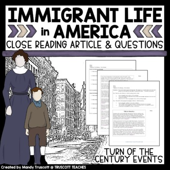 Close Reading Article: Turn of the Century Immigrant Life