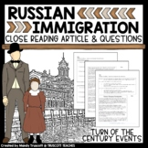 Close Reading Article: Turn of the Century Immigration (Eastern Europe)