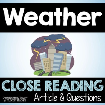 "Close Reading Article: ""Weather"""