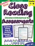 Close Reading Assessments Set 4 {Middle Grades}