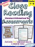 Close Reading Assessments Set 5 {Middle Grades}