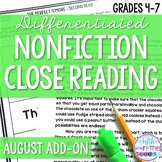 Close Reading  - August Lower Level ADD-ON