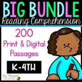 Reading Comprehension Passages BIG Bundle Levels K-4 Print
