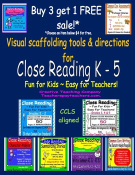 Close Reading; BUY 3 get 1 FREE! THIS IS NOT A PRODUCT.