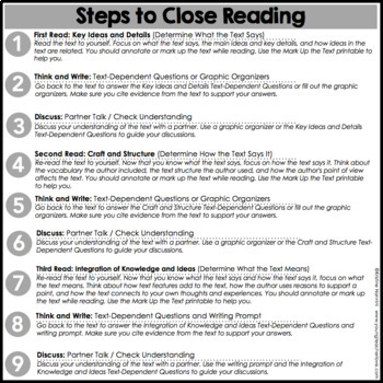 Close Reading: Back to School Differentiated Passages | Text Dependent Questions