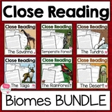 Close Reading Passages and Questions BIOMES Bundle