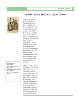 Informational Text Close Reading: Blizzard of 1888