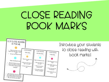 Close Reading Book Marks