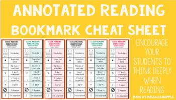 Close Reading Bookmark - Updated