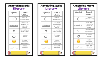 Close Reading Bookmark -- Informational and Literary