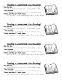 Close Reading Bookmark (in catchy rhyme!)