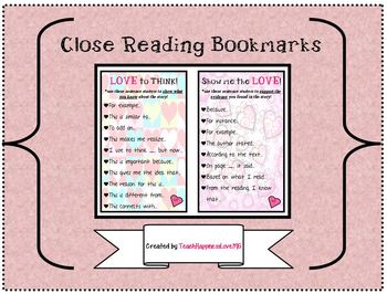 Close Reading Bookmarks!