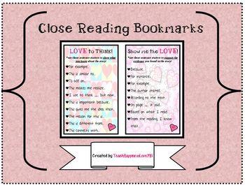 Close Reading Bookmarks!