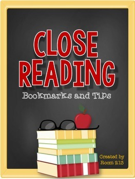 Close Reading Bookmarks & Tips
