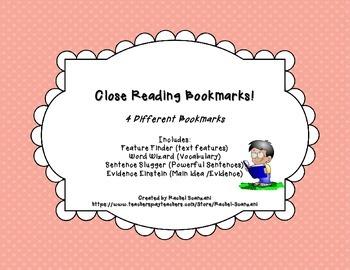 Close Reading Bookmarks! - (FREEBIE)