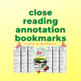 Close Reading Bookmarks Fiction & Nonfiction Annotation Tips (Notice & Note)