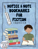 Close Reading Bookmarks for Fiction