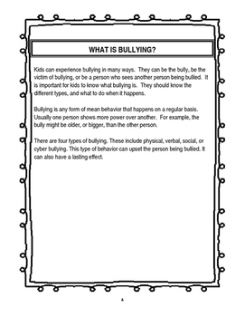 Close Reading Bullying Packet for THIRD GRADE