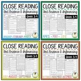 Reading Comprehension Passages and Questions Bundle + Digi