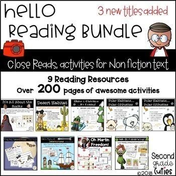 Close Reads Bundle Informational text, annotation to show text evidence & more