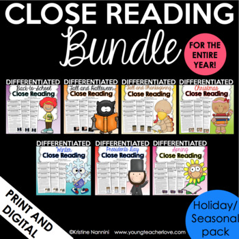 Reading Comprehension Passages and Questions - Differentiated Nonfiction Bundle