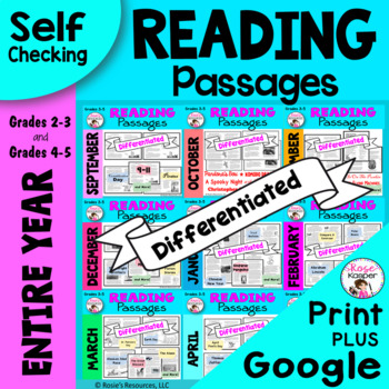Reading Comprehension Passages - Entire Year