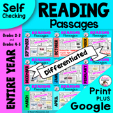 Reading Comprehension Passages and Questions - Entire Year