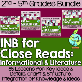 Close Reading Bundle Interactive Notebook 2-5 Grades Literature Informational