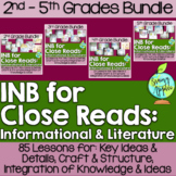 Close Reading Bundle Interactive Notebook 2-5 Grades Liter