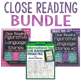 Close Reading Bundle for Grades 4-8: Bundle Palooza @ Lovin' Lit!