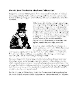 Close Reading: Character Study of Ebenezer Scrooge