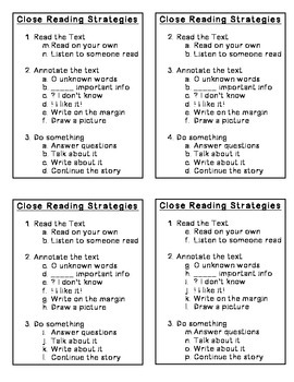 Close Reading Cheat Sheet