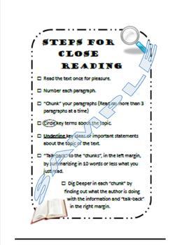 Close Reading Checklist