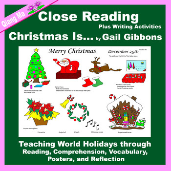 Close Reading: Christmas Is ... by Gail Gibbons