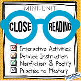 Close Reading -- Close Reading Passages -- Nonfiction Read