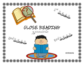 Close Reading Instructions, Close Reading Note Organizer, Annotation Book Marks