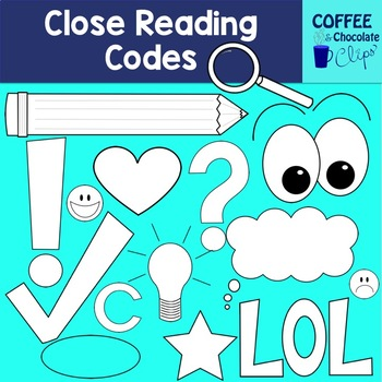 Close Reading Codes Clipart
