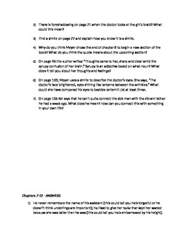 Close Reading Common Core - Cinder by Meyer