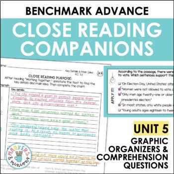 Close Reading Companions (Benchmark Advance, Fifth Grade, Unit 5)