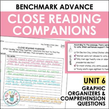 Close Reading Companions (Benchmark Advance, Fourth Grade, Unit 6)