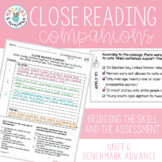Benchmark Advance Close Reading Companions (Third Grade, Unit 6)