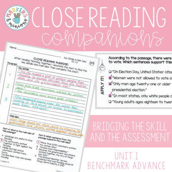 Close Reading Companions (Fifth Grade, Unit 1)